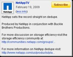 NetApp sets the record straight on dedupe.
