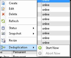 Deduplication on Volumes!