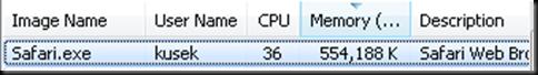 Safari Memory and CPU usage