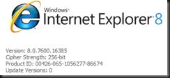 Internet Explorer 8 v8.0.7600.16385