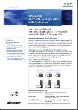 Virtualizing Microsoft Exchange 2010 with Confidence