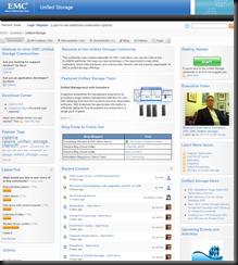 EMC Unified Storage Community