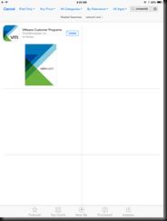 Do not download the VMware Customer Programs app for VMworld 2014 US!