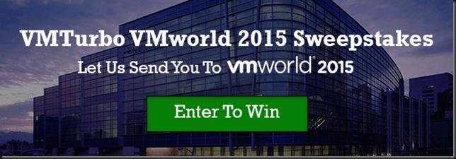 VMturbo VMworld 2015 Sweepstakes!!!